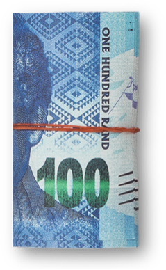 "A South African ""randela"" hundred rand note"